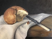 Antique Knife with Kaiser Roll